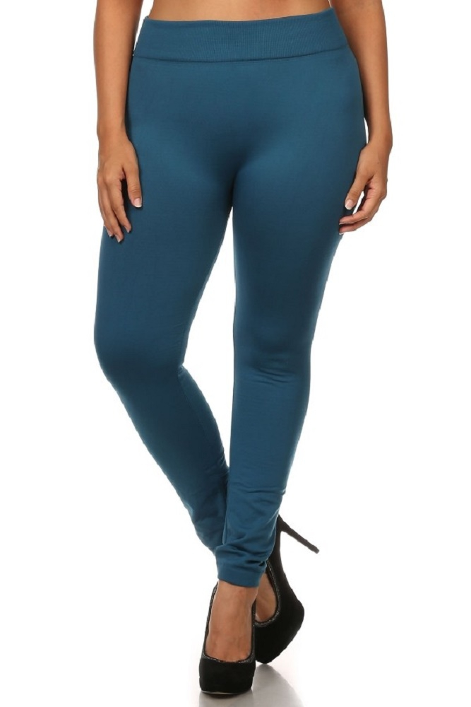 Plus Size Fleece Leggings Winter  - orangeshine.com