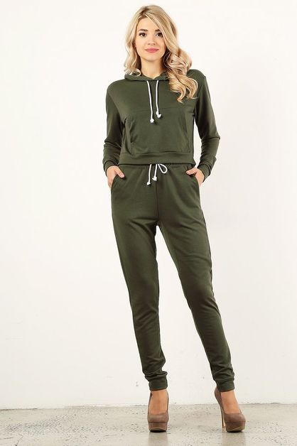 Olive Sweat Suit - orangeshine.com