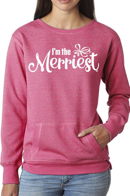 Im The Merriest Glitter Hoodie - orangeshine.com
