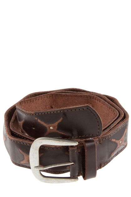 RUSTIC BUCKLE LEATHER BELT - orangeshine.com