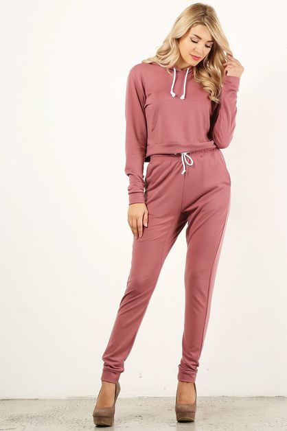 Deep Pink Sweat Suit - orangeshine.com