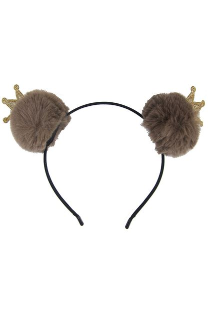 Pompom with Crown Headband - orangeshine.com