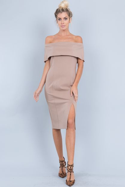 OFF SHOULDER TIGHT DRESS - orangeshine.com