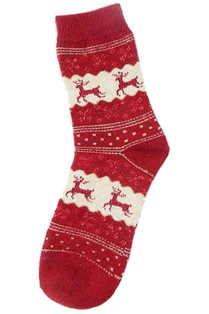Reindeer Christmas Theme Socks - orangeshine.com