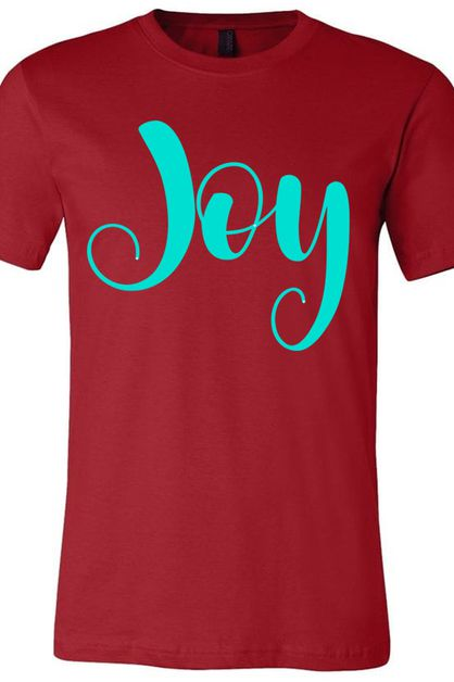 Joy BC Canvas Red Tee  - orangeshine.com