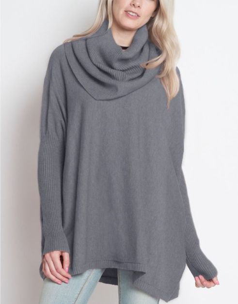 SOFT COWL PULLOVER SWEATER - orangeshine.com