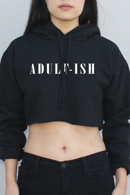 Adult-Ish Graphic Hoodie - orangeshine.com
