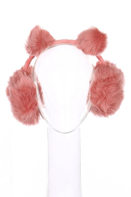 Pompom Soft Fur Earmuffs - orangeshine.com