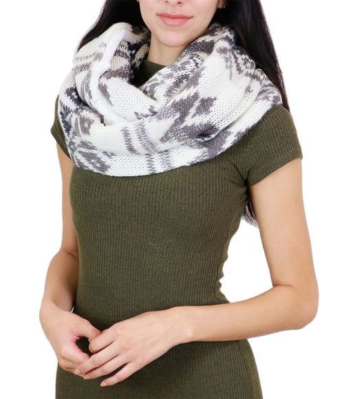Knit Winter Warm Infinity Scarf - orangeshine.com