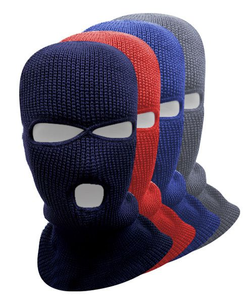12pc Pack 3 holes Full Face Ski Mask - orangeshine.com