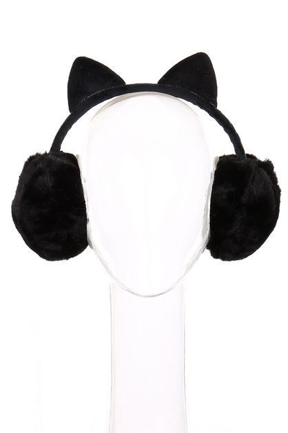 Cat Ear Soft Fur Earmuffs - orangeshine.com