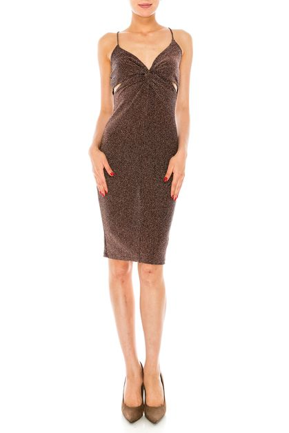 Glitter Bodycon Dress - orangeshine.com