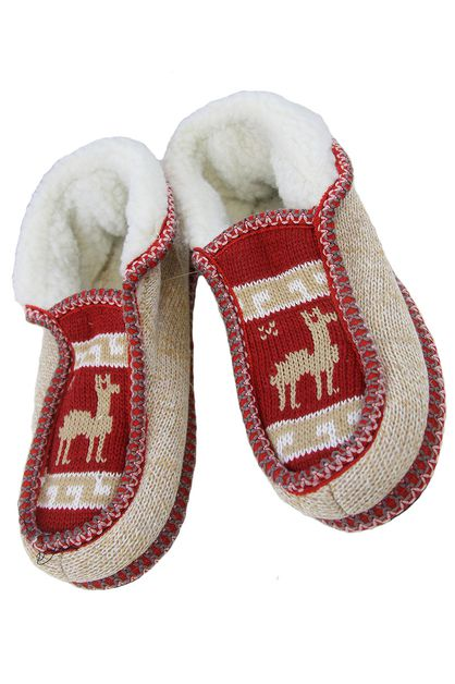 Faux Shearing Reindeer Indoor Shoes - orangeshine.com