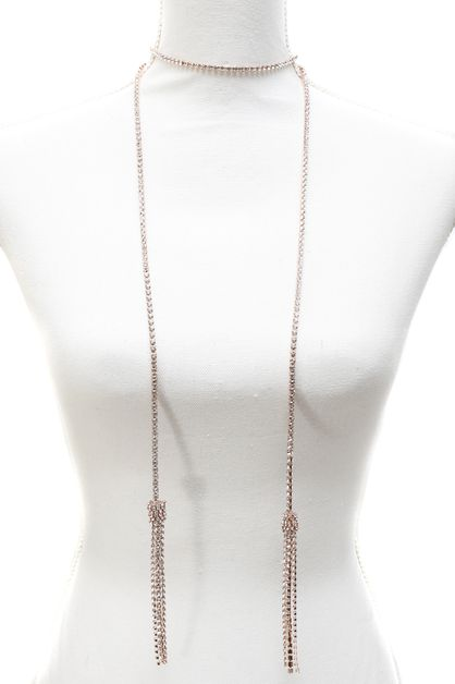 STONE LONG NECKLACE  - orangeshine.com