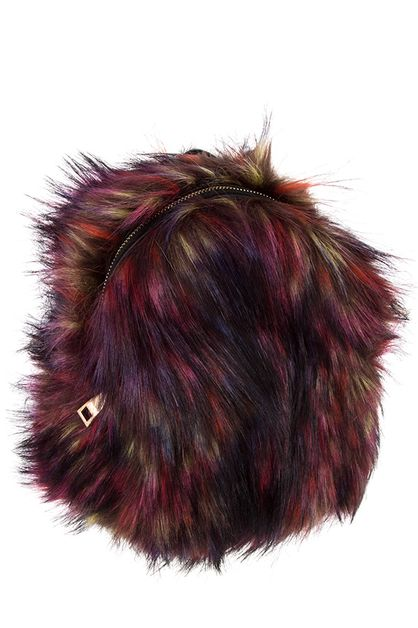 FAUX FUR MULTI COLOR BACKPACK - orangeshine.com