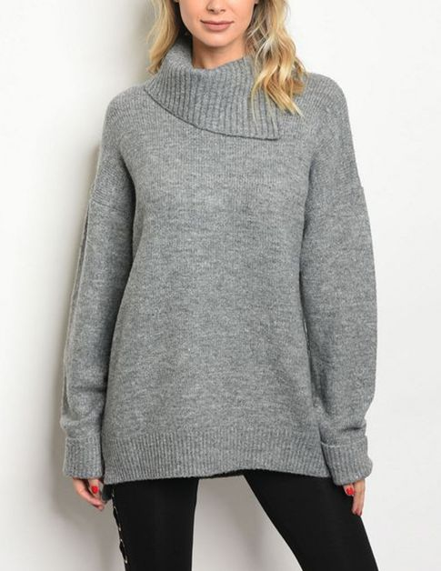 Heather Grey Sweater - orangeshine.com