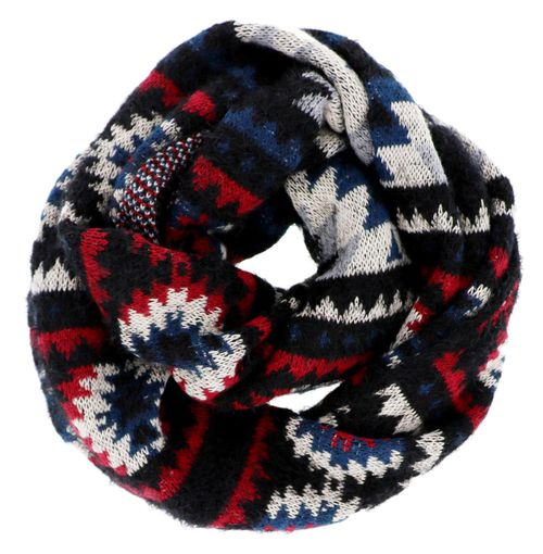 Navy Winter Infinity Knit Scarf - orangeshine.com