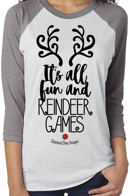 Fun and Reindeer Games Raglan Tee - orangeshine.com