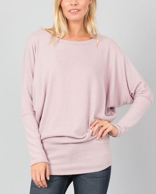 LONG DOLMAN SLEEVE FITTED WAIST TOP - orangeshine.com