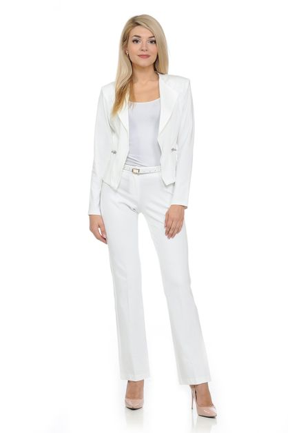 Women Wear to Work Pants Suit Set - orangeshine.com