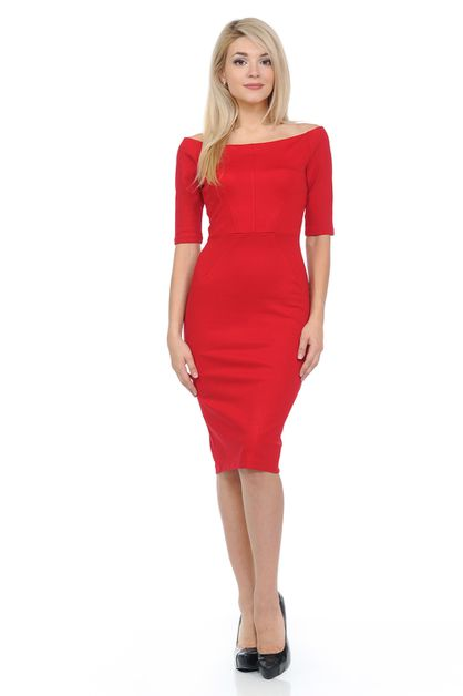 Solid Basic Formal Body Con Dress  - orangeshine.com