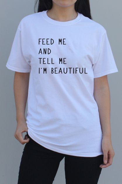Feed Me Graphic Tee - orangeshine.com