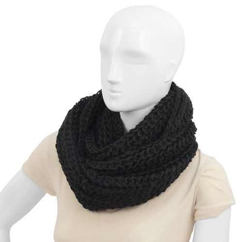 24pc Womens Black Infinity Scarf  - orangeshine.com