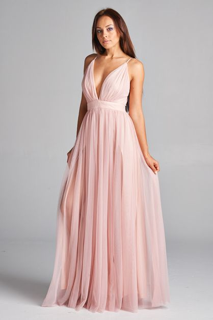 Long Tulle Cocktail Dress - orangeshine.com