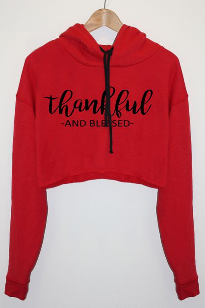 Thankful and Blessed Graphic Hoodie - orangeshine.com