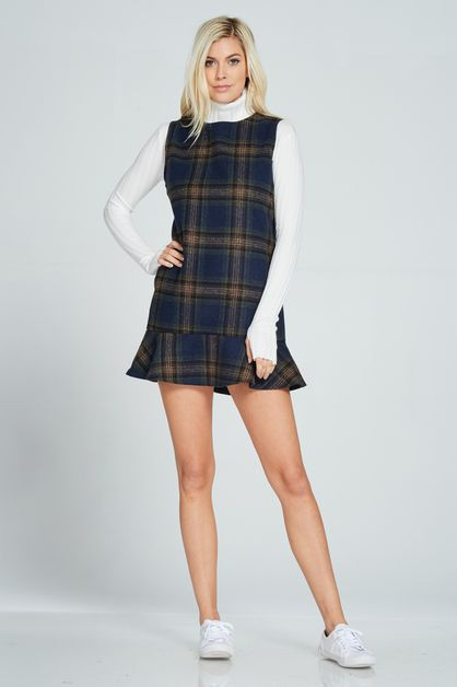 CLASSIC FLEECE PLAID DRESS - orangeshine.com