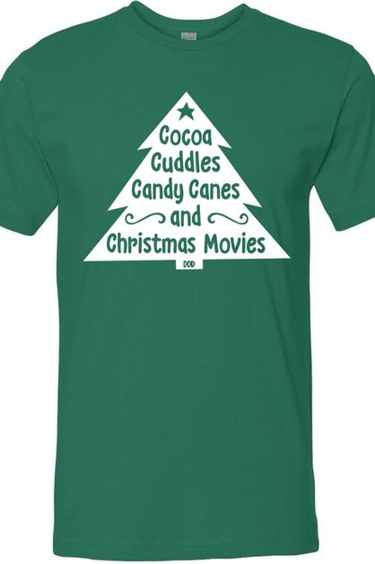 Cocoa Cuddles Christmas Movies Tee - orangeshine.com