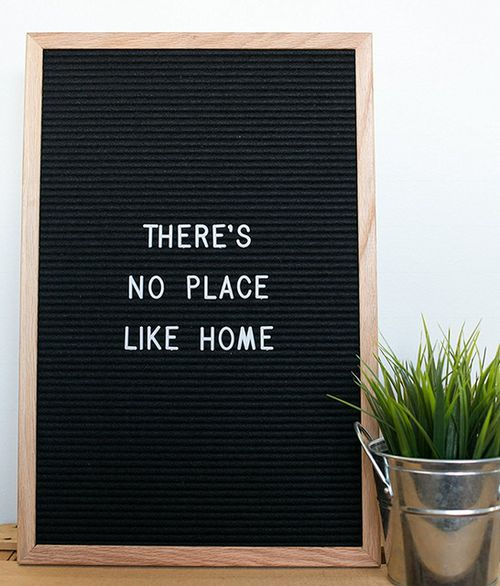 12 BY 18 Oak Felt Letterboard - orangeshine.com