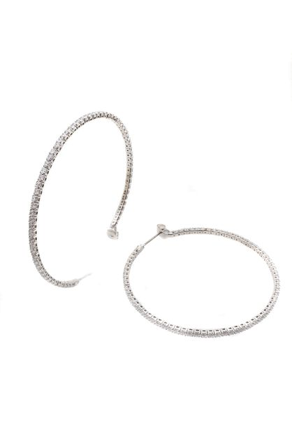R STONE HOOP EARRINGS - orangeshine.com