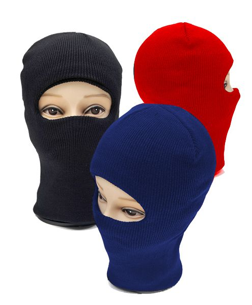 12pc One Hole Face Knit Ski Mask - orangeshine.com