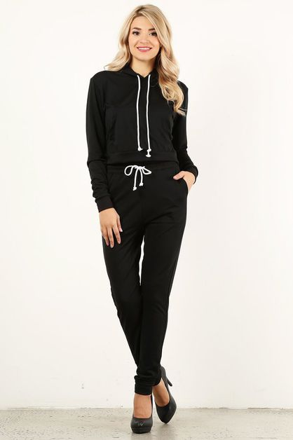 Black Sweat Suit - orangeshine.com