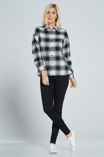 STRIPY PLAID SHIRT - orangeshine.com