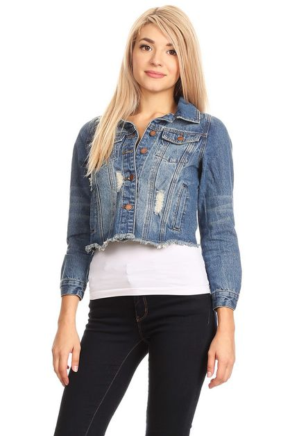 WOMEN DENIM  JACKET - orangeshine.com