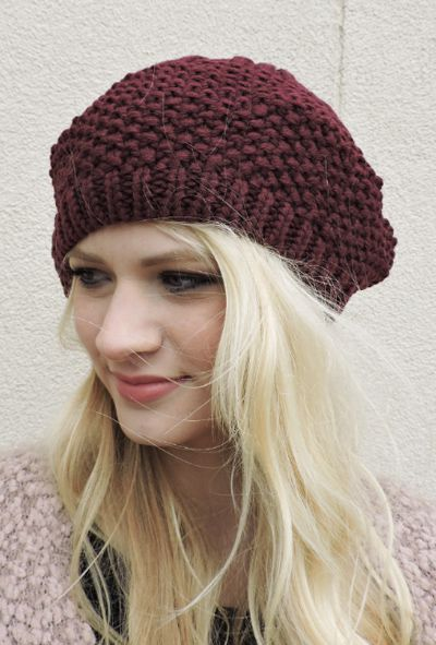 Let It Snow Beret Beanie - orangeshine.com