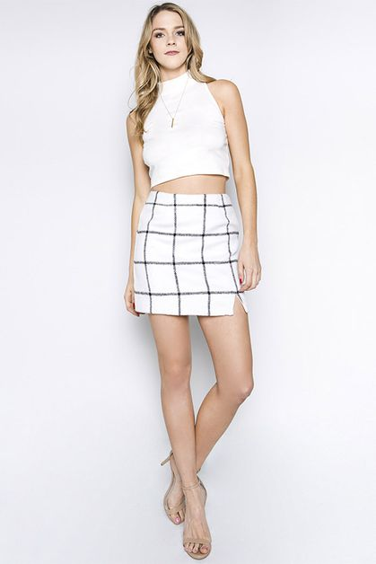 HEAVY WOVEN MINI SKIRT - orangeshine.com