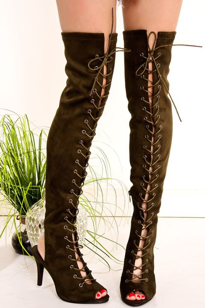 SUEDE LACE UP HIGH BOOT - orangeshine.com