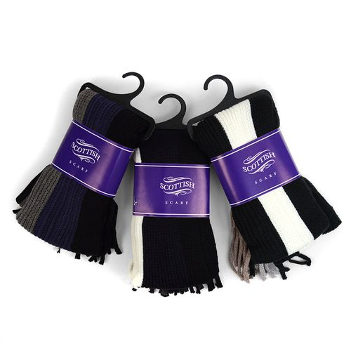 12pcPack Scottish Acrylic Scarf - orangeshine.com