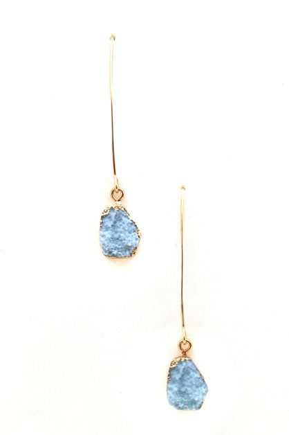 Druzy Dangle Earrings - orangeshine.com