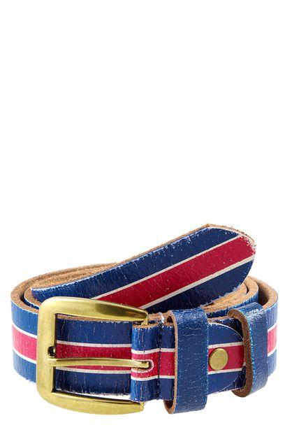 LEATHER UK FLAG PRINTED BELT  - orangeshine.com