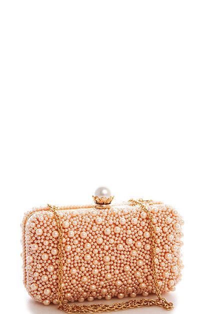 Chic Princess Pearl Evening Clutch - orangeshine.com