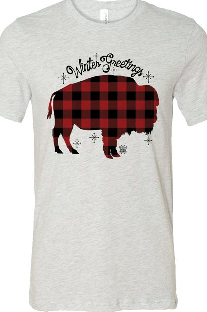 Buffalo Plaid Buffalo Ash Soft Tee - orangeshine.com