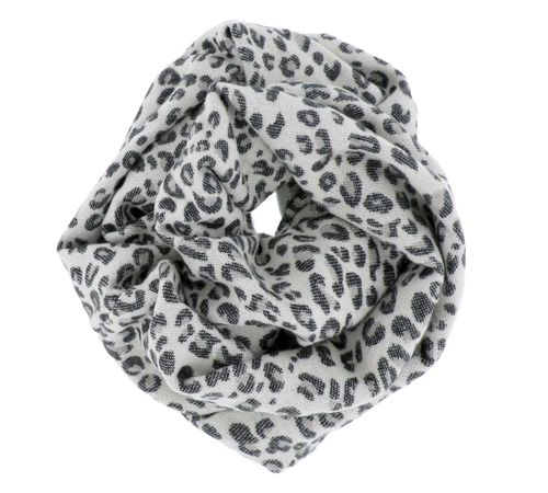 Grey Leopard Animal Print Scarf - orangeshine.com