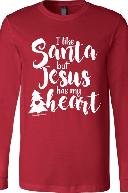 Like Santa Jesus Has Heart BC Long - orangeshine.com