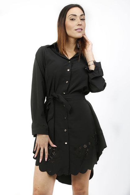 SOLID SHIRT DRESS - orangeshine.com
