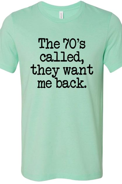 The 70s called Soft Tee - orangeshine.com