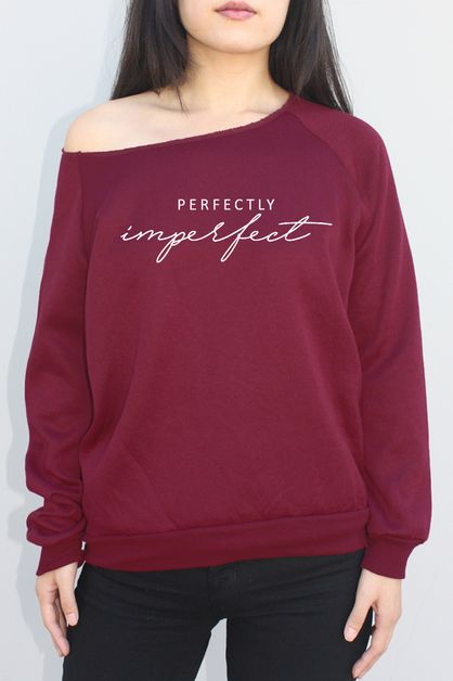Perfectly Imperfect Graphic Sweater - orangeshine.com